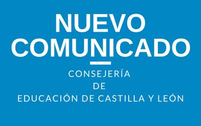 NUEVO COMUNICADO Junta Castilla y León