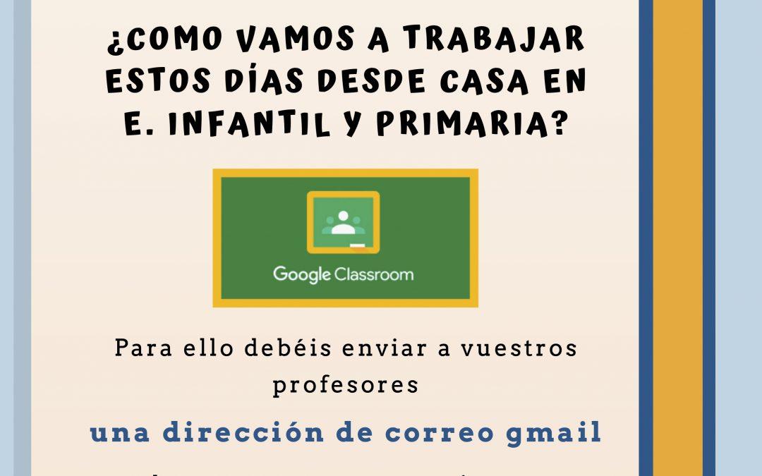 TRABAJO CASA PARA E. INFANTIL Y PRIMARIA