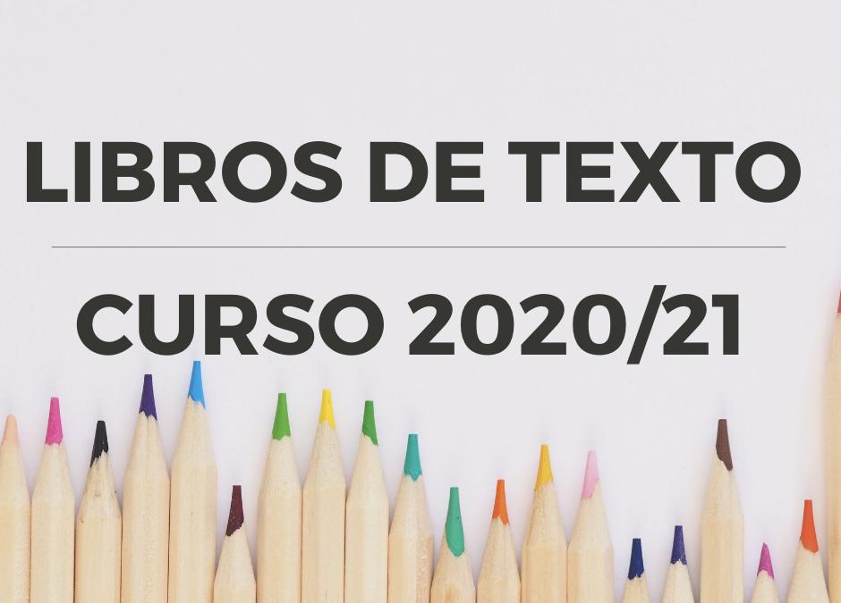 LIBROS TEXTO CURSO 2020/21