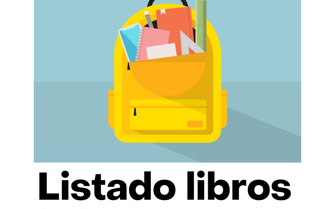 LIBROS TEXTO CURSO 2021-2022